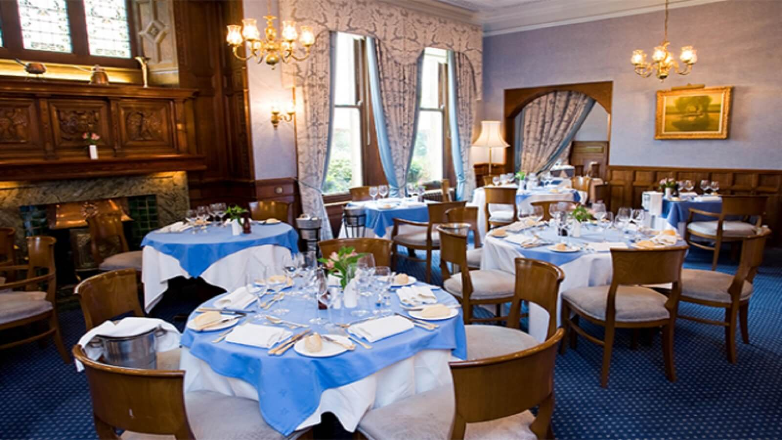 The Oak Room at Moor Hall Hotel
